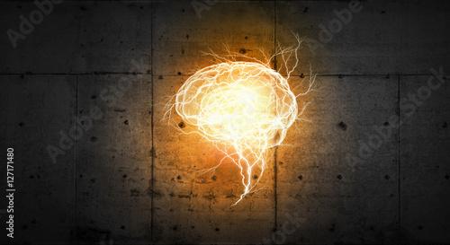 Obraz Glowing mind image . Mixed media - fototapety do salonu