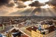 Wien, Stadtansicht in der Dämmerung