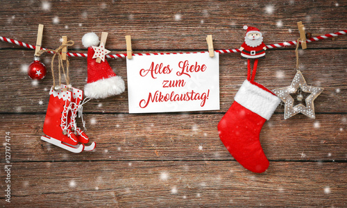Foto-Doppelrollo - Alles Liebe zum Nikolaus (von Coloures-Pic)