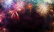 canvas print picture - Abstract firework background with free space for text