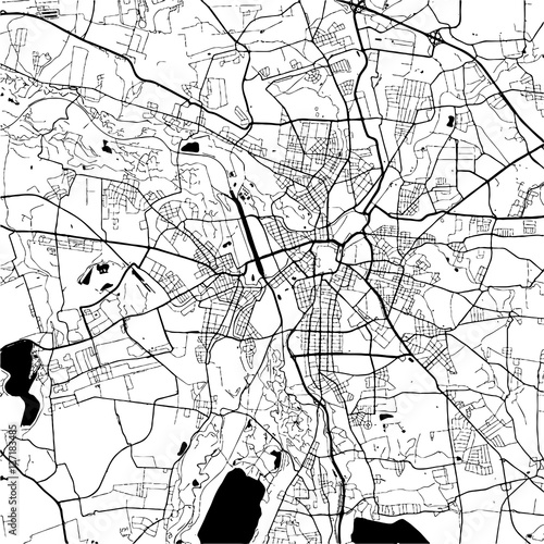 Photo Leipzig, Germany Monochrome Map Artprint