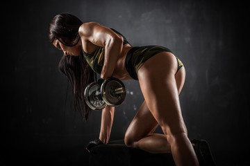 Fototapeta Fitness / Siłownia Fitness with dumbbells