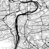 Prague, Czech Republic, Monochrome Map Artprint - 127184272