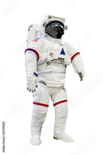 Deurstickers Nasa astronaut isolated on white background