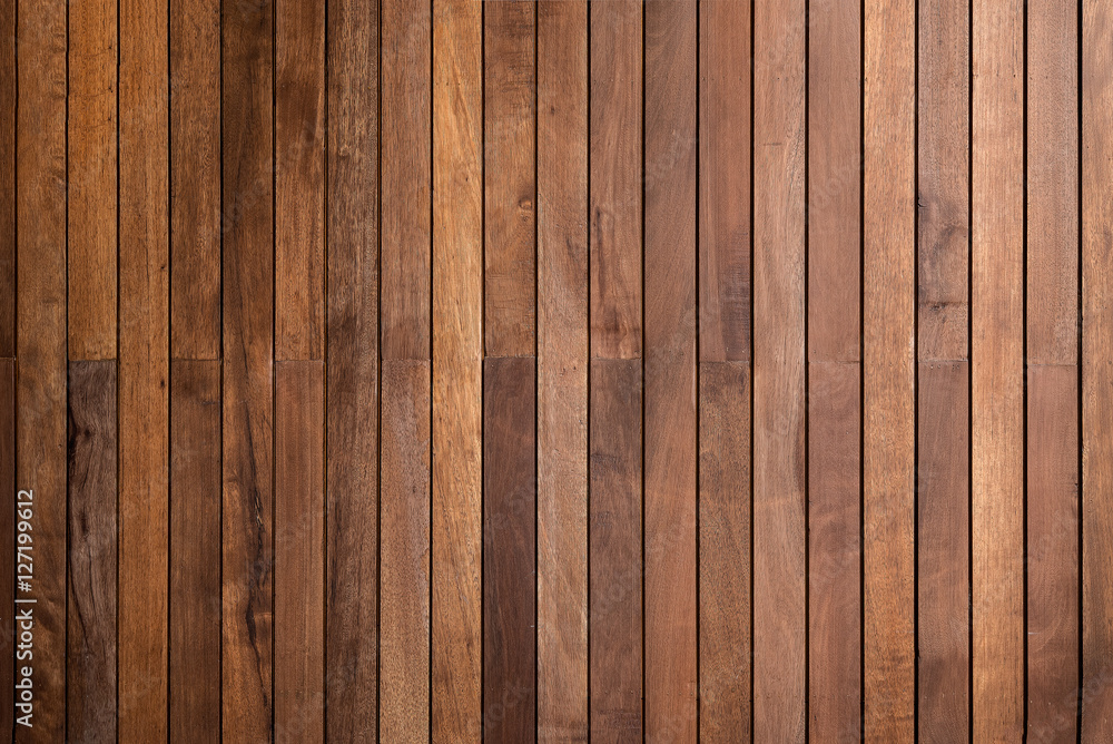 Fototapety, obrazy: timber wood brown oak panels used as background