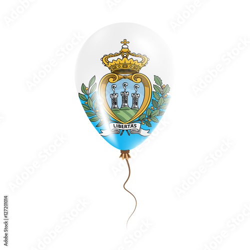 San Marino balloon with flag. Bright Air Ballon in the ...