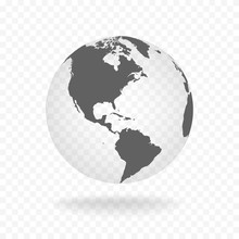 White Gray Globe Glass Transpa...