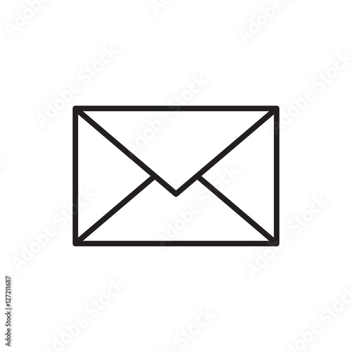 Fototapeta email message envelope icon outline vector obraz