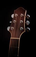 Guitar Headstock On Black Background