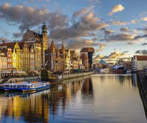 Fototapeta Gdańsk Gdansk,Poland,September 2016:Cityscape of Gdansk in Poland