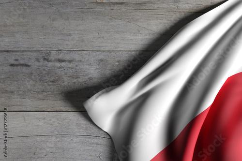 Poland flag waving