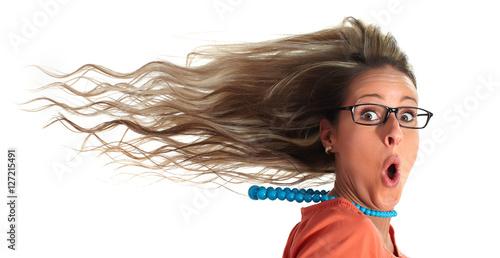Fotografia  Happy woman hair.
