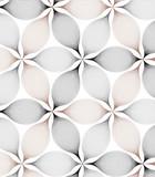 Vector pattern. Repeating geometric flowers - 127217613