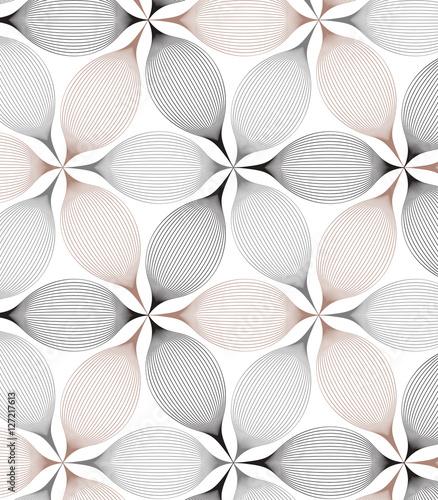Vector pattern. Repeating geometric flowers