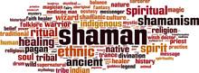 Shamanism Word Cloud Concept. ...