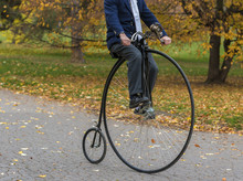 Penny-farthing Bicycle In A Pa...