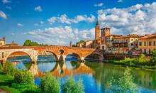 Bridge Ponte Pietra In Verona ...