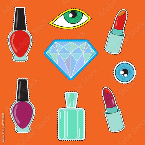 Fashion icons, perfume, nail Polish, diamond and other
