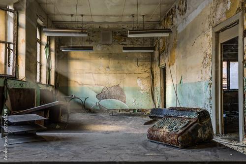 Poster Graffiti Abandoned factory