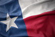 canvas print picture waving colorful flag of texas state.