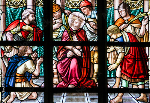 Photo Stained Glass - Jesus on Good Friday