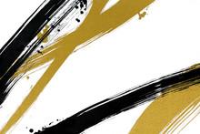 筆で描いた線と点 和風背景素材