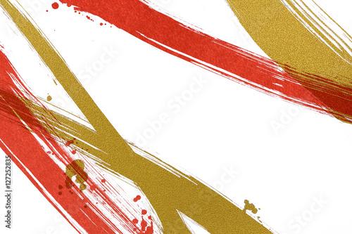 Fotografía  筆で描いた線と点 和風背景素材