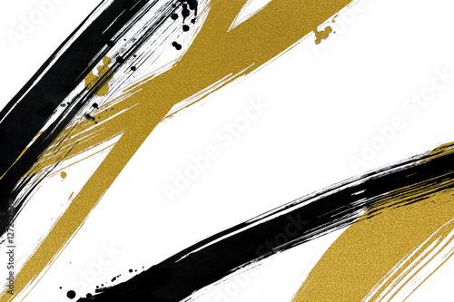 Obraz 筆で描いた線と点 和風背景素材  - fototapety do salonu