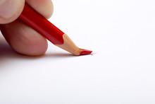 Broken Red Pencil.