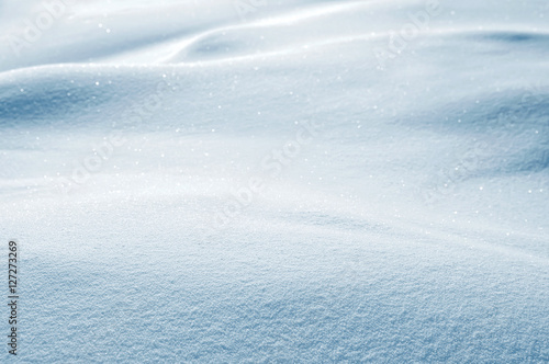 Winter background. Winter landscape with snow-covered field frosty day.