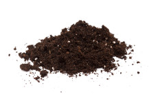 Small Heap Of Compost Isolated