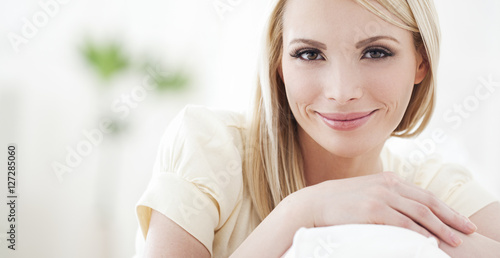 Fotografia  Beautiful Smiling Blond Woman