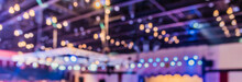 Blur Image Of Party Hall Ceiling.