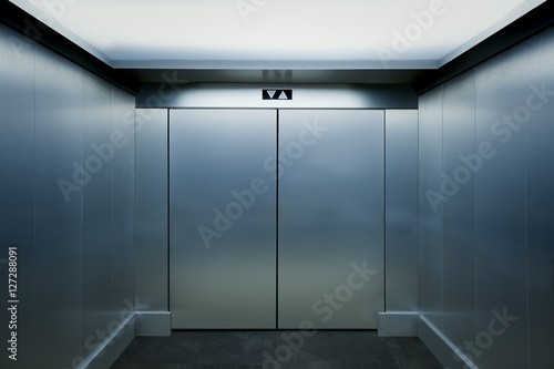 Photo Interior view of a modern elevator