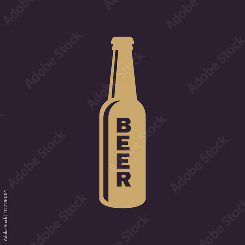 Bottle of beer icon Wallpaper Mural