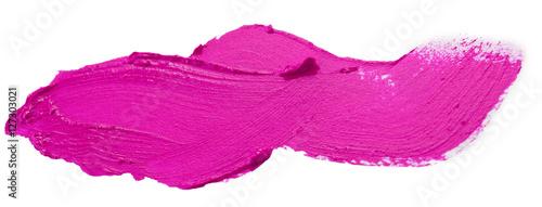 dark pink lipstick stroke isolated on the white background Fototapet