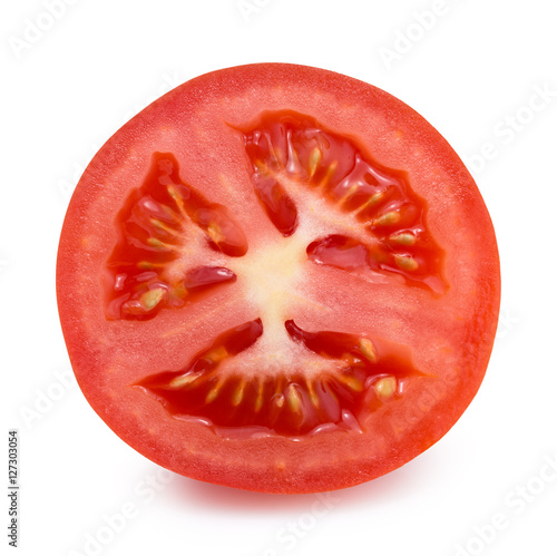 tomato slice isolated on the white background