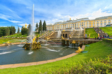 Grand Cascade In Peterhof, Sai...