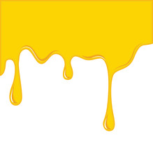 Vector Of Yellow Cheese Or Oil...