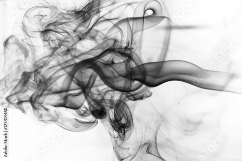 Fototapety, obrazy: Toxic fumes movement on a white background..