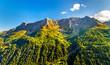 Mountains near St. Gotthard Pass in Swiss Alps