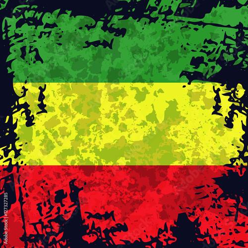Photo  Green, yellow, red rasta flag