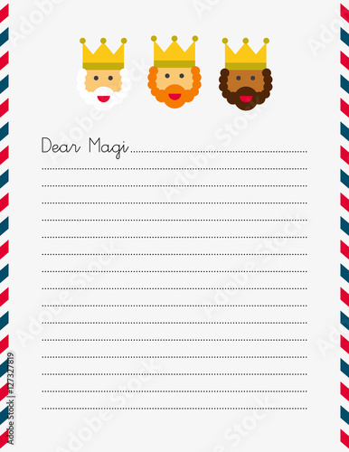 Magi Christmas Letter (US letter size) Wallpaper Mural