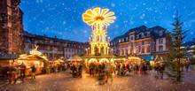 Weihnachtsmarkt Panorama In Deutschland
