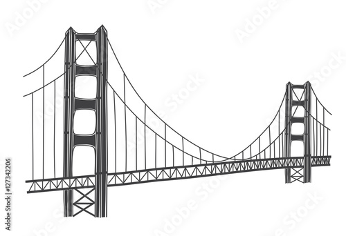 Fotografía illustration of Golden Gate bridge, San Francisco
