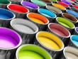 canvas print picture - farbtöpfe