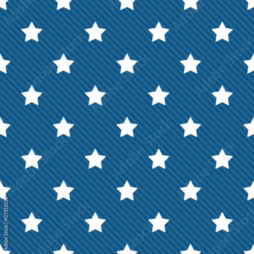 Cotton fabric Seamless stars with diagonal lines pattern