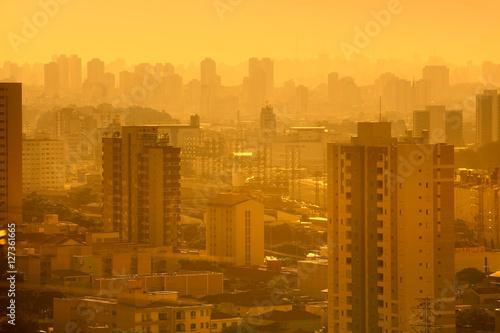 Sao Paulo cityscape in twilight