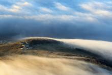 View Of Dispersing Mountain Mi...