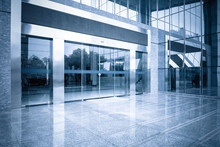 Office Building Entrance And Automatic Glass Door